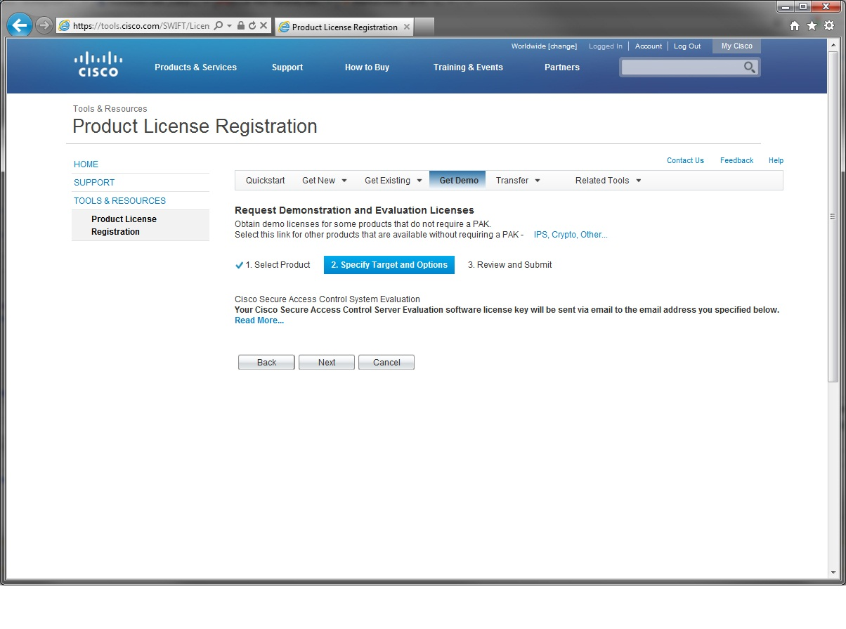 Cisco acs 5 2 evaluation license download