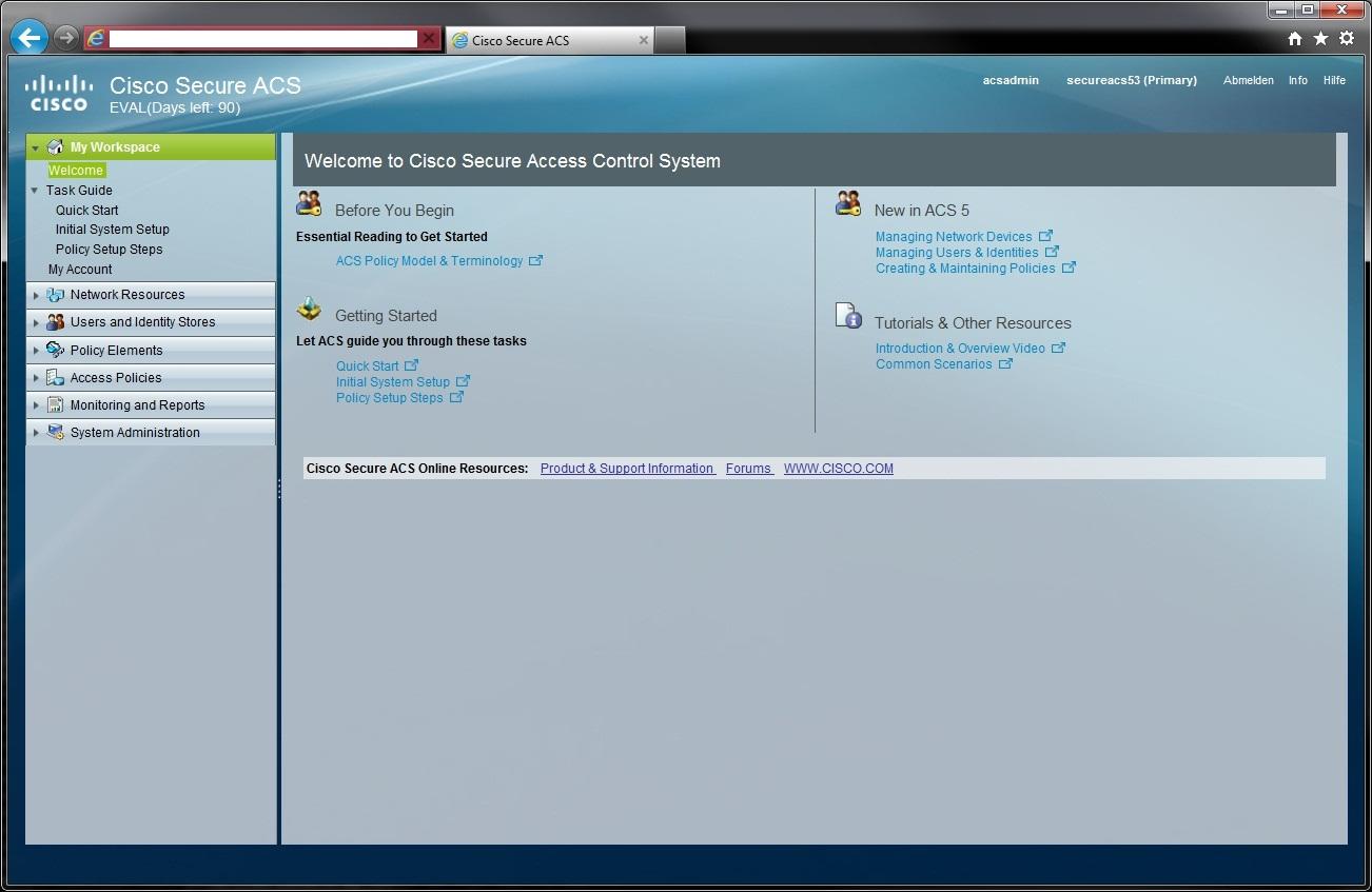 Installing acs in a vmware virtual machine.
